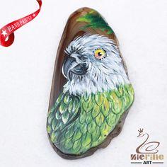 Hand Painted Parrot Agate Slice Gemstone Necklace Pendant Jewlery D1706 1271 #ZL #Pendant