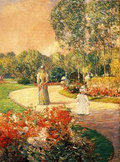 Impressionism - Park Monceau, Paris, 1897, Childe Hassam