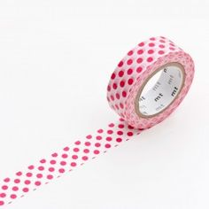 MT Washi Tape is the latest trend. let's see if it sticks! This tape is Dot red. More patterns and colours available here http://www.utilitydesign.co.uk/brands/mt-tape