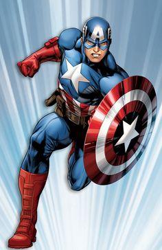 #Captain #America #Fan #Art. (Captain America) By: Ed McGuinness. (THE * 5 * STÅR * ÅWARD * OF: * AW YEAH, IT'S MAJOR ÅWESOMENESS!!!™) [THANK U 4 PINNING!!<·><]<©>ÅÅÅ+