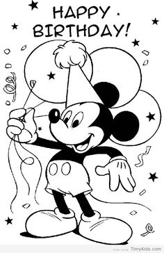 httptimykidscomhappy birthday disney coloring - Feliz Cumpleanos Coloring Pages