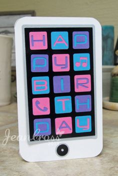 IPOD Birthday by naturecoastcrafter - Cards and Paper Crafts at Splitcoaststampers. (c) Jean Cross