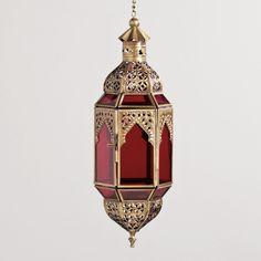 Red Latika Hanging Lantern