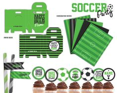 Soccer Party Printables Package PFD File by SqweezDesign on Etsy