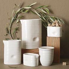 ridged porcelain serveware just PHOTO, SALES WEB