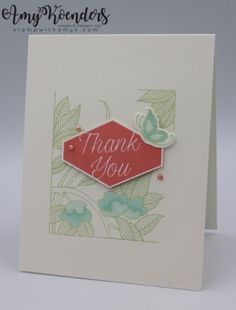 Stampin' Up! Accented Blooms with Serene Garden Thank You – Stamp With Amy K