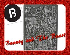 Beauty and the Beast Stamping Plate (BBF Nail Art) (BBF 42) || The Only ...