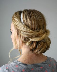 love this rolled low updo ~ we ❤ this! moncheriprom.com