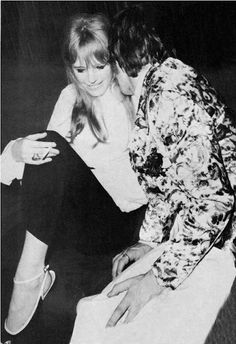 Marianne Faithfull and Mick Jagger                                                                                                                                                                                 More