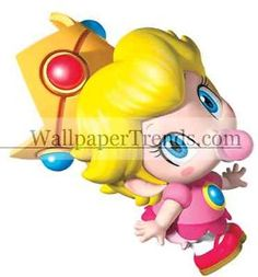 BABY-PRINCESS-PEACH-Super-Mario-Games-Bros-Brothers-64-Vinyl-Wall-Decals-Sticker