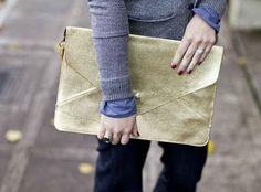 Make a totally glam glitter clutch bag.