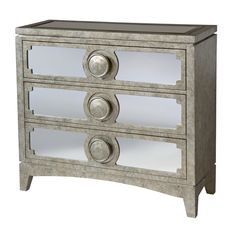 Carlton 3-drawer Mirrored Accent Chest - Overstock™ Shopping - Great Deals on Coffee, Sofa & End Tables