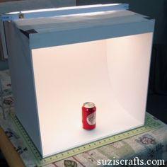 DIY light box for product photos.