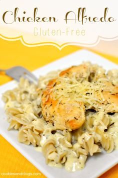 Chicken Alfredo Gluten-Free Recipe using brown rice and quinoa pasta #gf #glutenfree #recipes - https://www.facebook.com/different.solutions.page