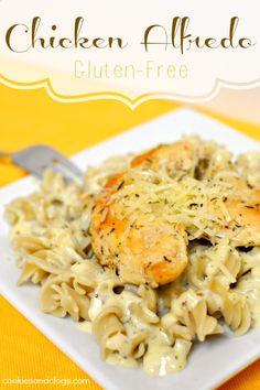 Chicken Alfredo Gluten-Free Recipe using brown rice and quinoa pasta #gf #glutenfree #recipes - https://www.facebook.com/different.solutions.page