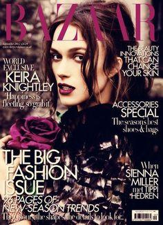 Ame cada detalle de esta portada de Keira Knightley para UK Harper's Bazaar Septiembre 2012