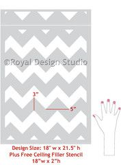 Chevron wall for my Craft Room!