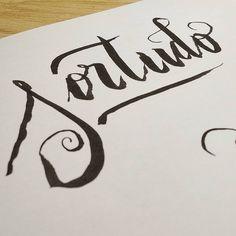 Sortudo #lettering #caligraphy #inktober #inktober2015