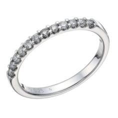 9ct white gold 1/4 carat diamond claw set eternity ring - Ernest Jones
