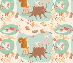tea towel calendars fabric, wallpaper & gift wrap - Spoonflower
