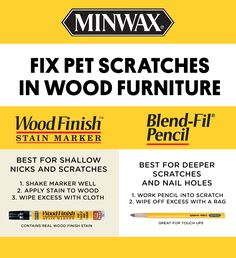 We all love our dogs and cats, but we don't always love what they do to our wood surfaces. With the right Minwax products, you can fix pet scratches with ease - and get your pets out of the doghouse. Click to watch our DIY tutorial.