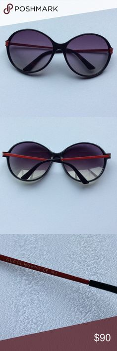 Oversized Gucci Sunglasses So simple and yet,so stylish oversized Gucci sunglasses. Case got stolen but I can find another one which will fit those. It won't be the same brand but something similar. Minor scratches but still in great wearable condition. Gucci Accessories Sunglasses