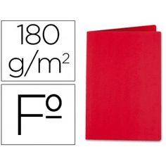 Subcarpetas de cartulina superior de 180 grs. Tamaño Folio (345 x 235 mm.) Envase de 50 unidades Color: Rojo