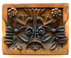 Louis Sullivan Do love this look! Architectural Antiques, Architectural Elements, Tile Art, Mosaic Art, Craftsman Tile, Louis Sullivan, Art Nouveau, Art Deco, Clay Wall Art
