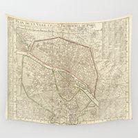 Wall Tapestries featuring PARIS by Le petit Archiviste
