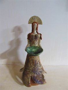 Ceramic Art, Enchanted, Art Work, Candle Holders, Candles, Ceramics, Artwork, Ceramica, Work Of Art