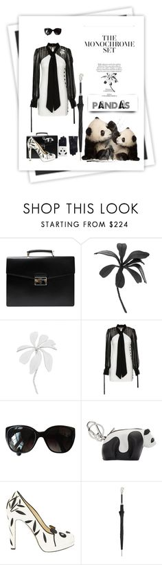 """Pandas"" by free-my-spirit ❤ liked on Polyvore featuring GALA, Prada, Ann Demeulemeester, self-portrait, Chanel, Loewe, Charlotte Olympia, Pasotti Ombrelli and Aristide"