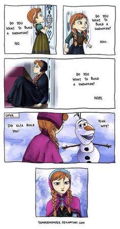 Frozen meme - do you wanna build a snowman? - Anna disappointed!