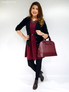 There's a new #outfit of the day post on the #blog! Check it out now! http://saradujour.me/post/62491604527/ootd-black-burgundy #fashion #style