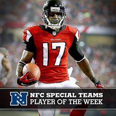 Congrats to Devin Hester on his NFC Player of the Week award! Falcons Football, Football Team, Football Helmets, Falcons Rise Up, Devin Hester, Lsu Tigers, Atlanta Falcons, Georgia, Nfl