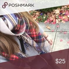 Plaid scarf - blanket scarf I only have a few!! It's my absolute favorite fall accessory 🍃🍂 wisteria lane  Accessories Scarves & Wraps