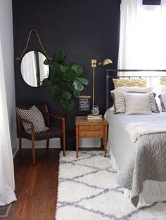 Bedroom Paint Color Trends for 2017 | Navy and Gray