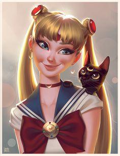 ArtStation - Sailor Moon Portrait, Leandro Franci