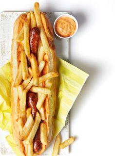 Hot-dog mitraillette belge