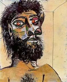 Faun's head, 1938, Pablo Picasso  Medium: oil on canvas