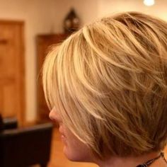 Short layered bob @Brenda Franklin Miller-Gordon