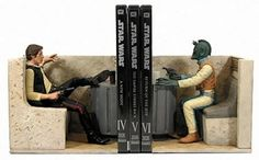 Han Solo and Greedo Bookends - possibly the coolest bookends EVER! #autism #aspergers