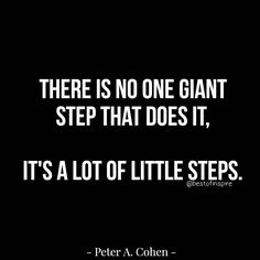 Take small steps everyday and eventually you will get there. 🎯💯  #smallsteps #successquotes #bestofinspire