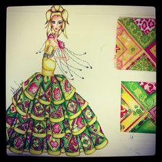 practica de dibujo textil y estampado