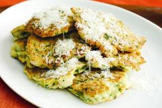These crispy golden fritters are a delicious way to serve cauliflower as a side dish.