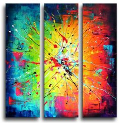 Artist could not be traced Online Galerie, Modern Artists, Cool Paintings, Triptych, Diy Wall Art, Shape Art, Art Inspo, Abstract Art, Creations