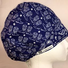 Line Dancer Surgical Cap Scrub Hats Bouffant by LoveNstitchies