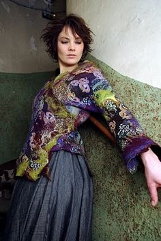 beautiful felted jacket by Nathalie Banos