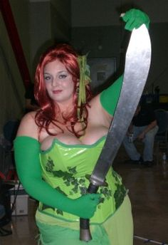 that's a big sword. Poison Ivy Costumes, Knives And Swords, Halloween Diy, Cosplay Costumes, Big, Image, Halloween Crafts