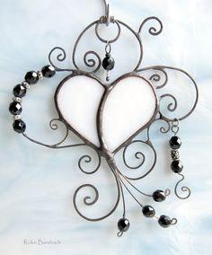 Nastasia A4 art nouveau ornate heart filigree by RickieBansbach, $20.50