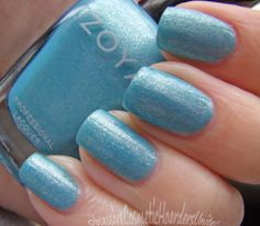 "Rebel- described by Zoya as ""blue sky metallic"","